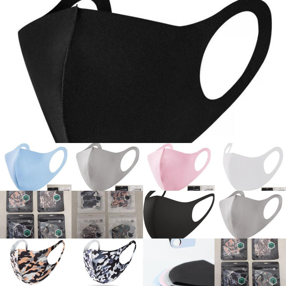 Protezione maschera per adulti faccia Bocca maschere di cotone riutilizzabili naso anti-polvere di moda lavabile masALQ2 E768
