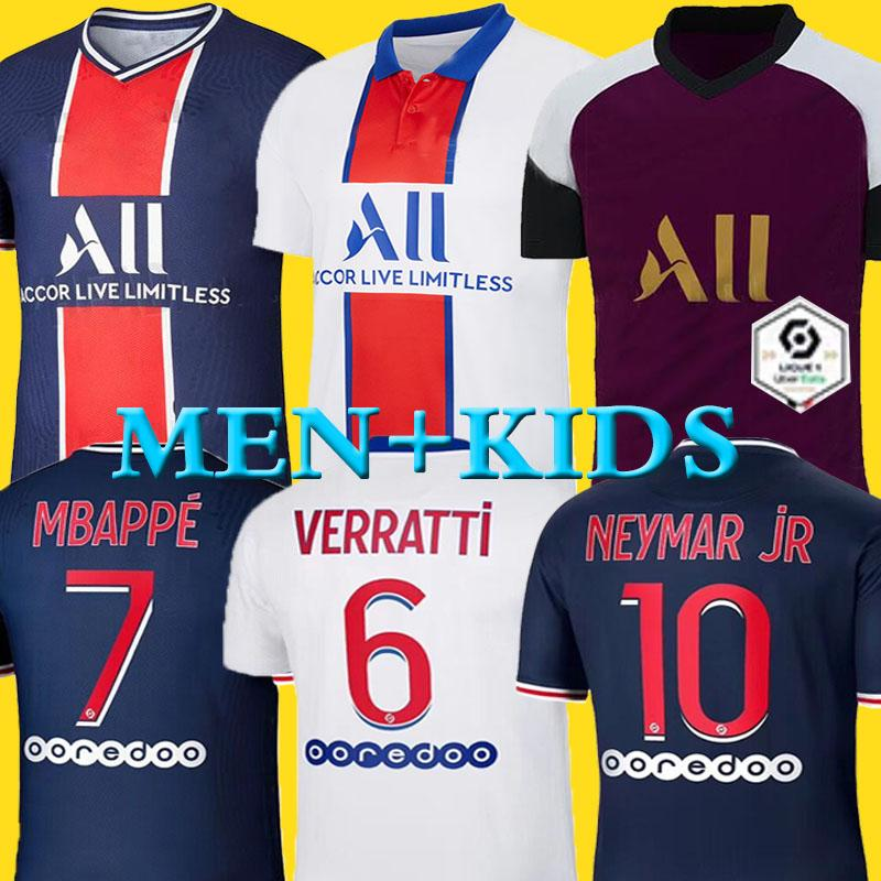 Maillots de football kits 20 21 soccer jersey 2020 2021 MBAPPE ICARDI NEYMAR shirt JR men kids sets uniform maillot de foot hommes enfants