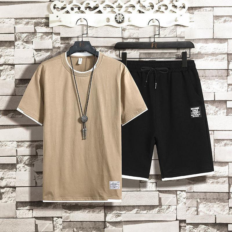 mens fatos de treino verão agasalho 2020 roupa de luxo kjujbd Arrefecer Ternos manga curta Jogger Fit Pollover com capuz Hoodies longo Pan
