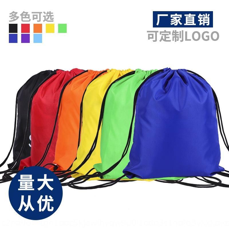Nylon Oxford sac double coulisse épaule sac à dos en toile de polyester de tissu de nylon