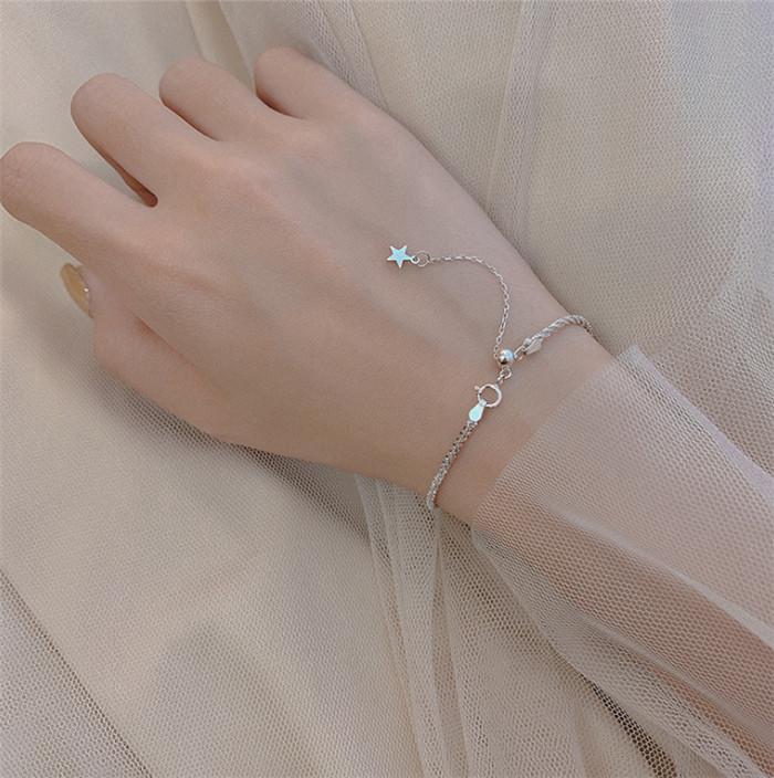 S925 Sterling Silber Blumenkohl Armband Himmel Sternarmband Mode Kreativität glänzt Charm Bracelets Einfaches Temperament Schmuck