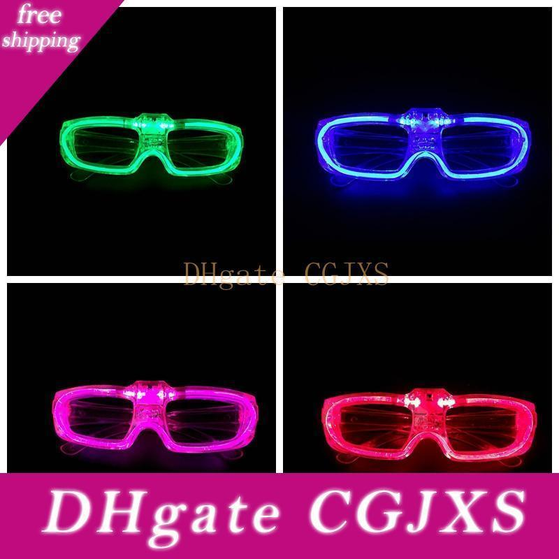 Hot !Led Glasses Frame Luminescence Battery Operated Button Switch 3 Modes Cool Festival Party Lighting Supplies Without Lens