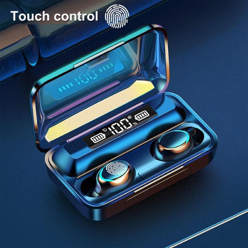 f9-5c TWS Bluetooth V5.0 F9 5C Беспроводные наушники Наушники 9D стерео Спортивные водонепроницаемые наушники Беспроводные наушники с сенсорным управлением гарнитуры