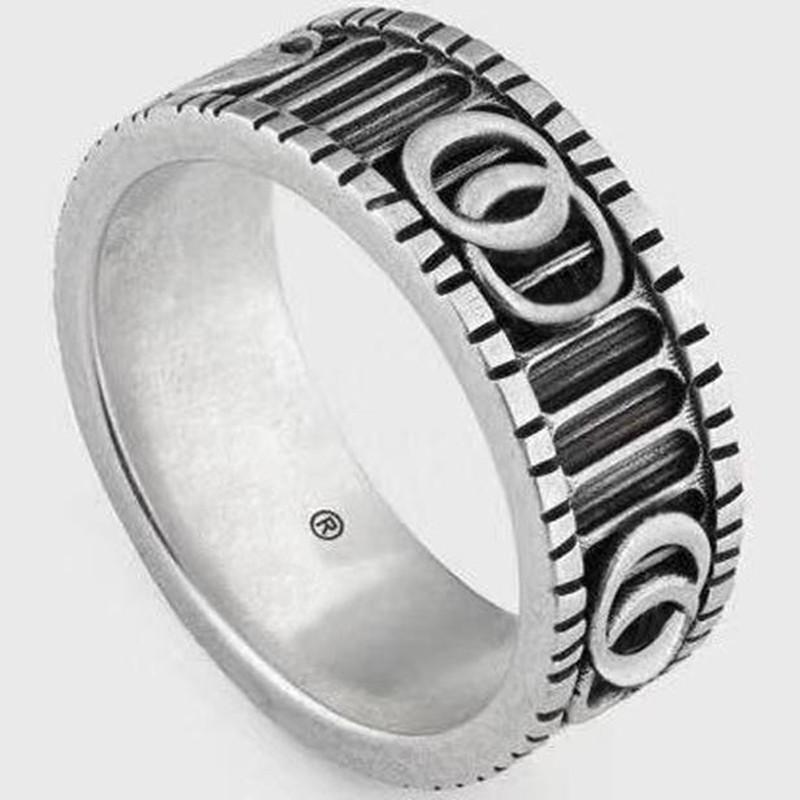 높은 품질 스털링 실버 반지 특별 디자인 편지의 성격 링 레트로 힙합 커플 링 패션 보석 공급