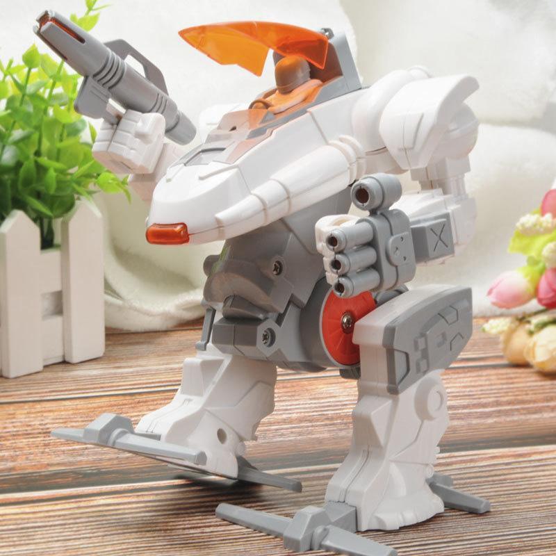Mech Warriors Çocuk Puzzle Erken Eğitim Kılavuzu Beyin Meclis Robot Eğitim DIY Oyuncak Yeni Yaratıcı DIY Meclisi