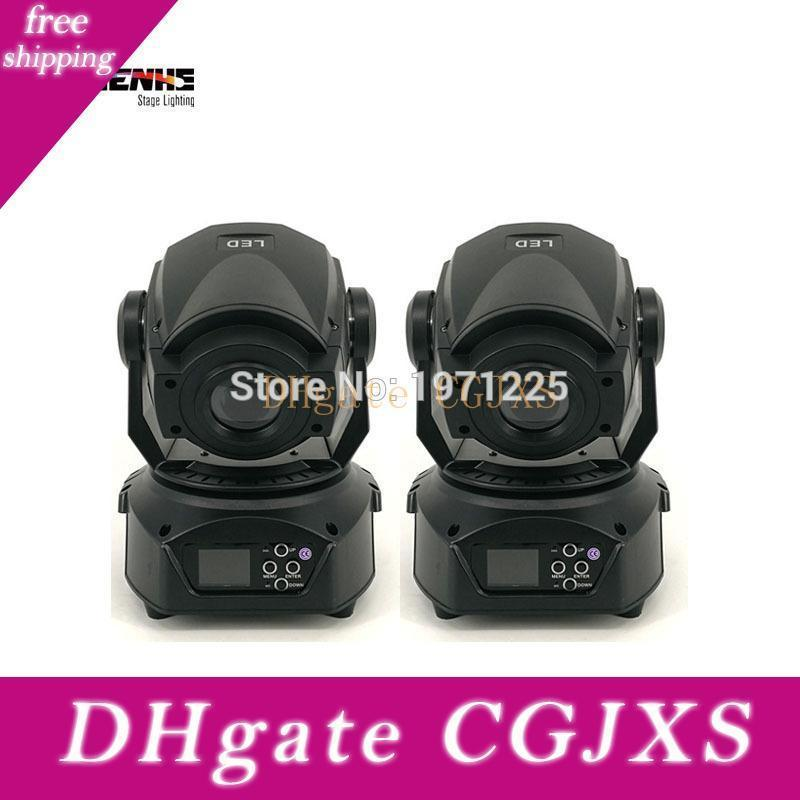 2pcs de Spot Led Moving Head faisceau de lumière DMX 512 Contrôleur 90w Gobo Led Moving Light Display Lcd Avec 3 Prisme Visage