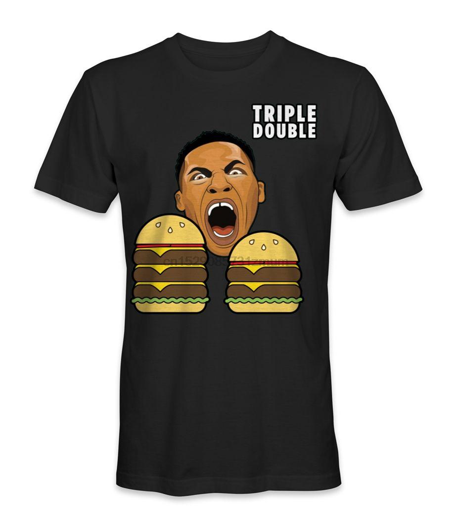 Russell Westbrook Triple Double-Basketball-T-Shirt Beliebte Tagless-T-Shirt