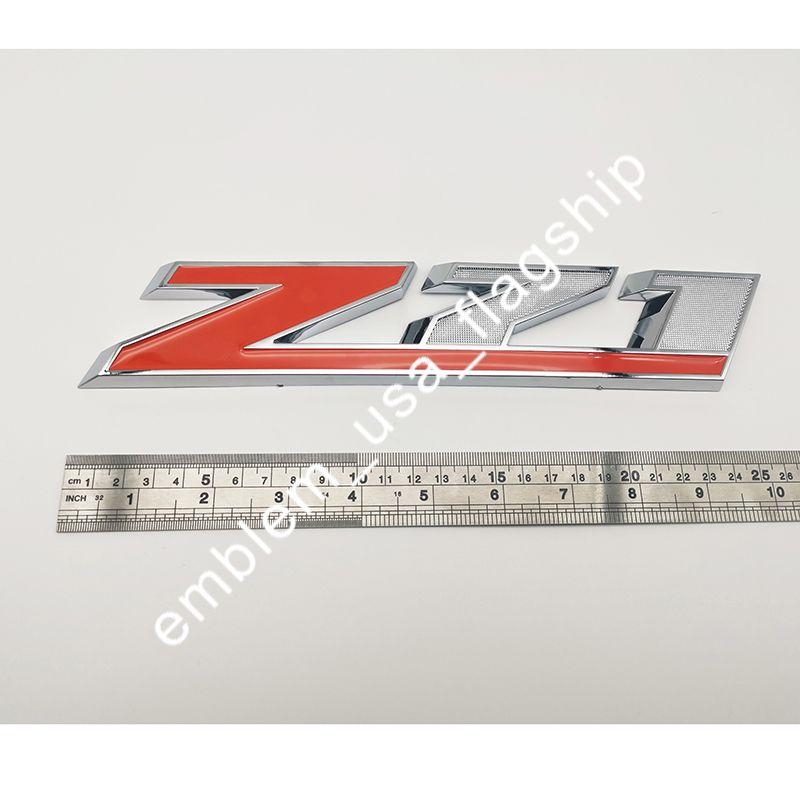 """Z71 الكبير البرتقال 10.5 """"ملصق شعار سيارة 3D سيلفرادو"""