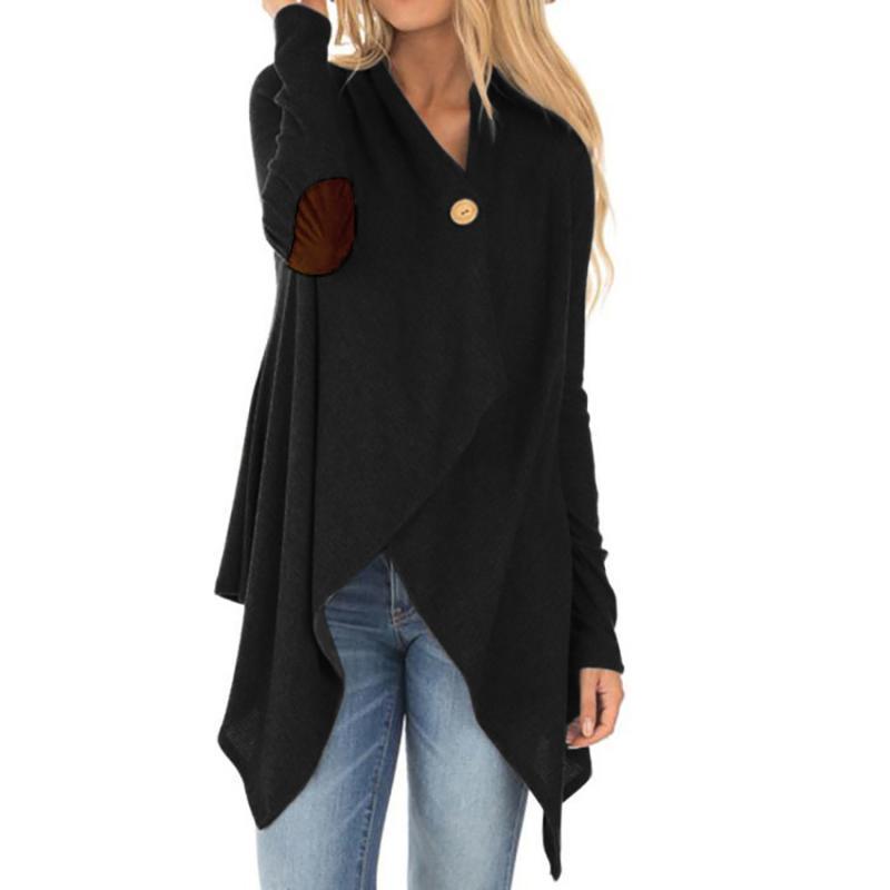 Кнопка женского пальто сплайсинга одна кнопки случайной асимметричной длиной пальто женщина 2020 горячая продажа осенью и зима 2020