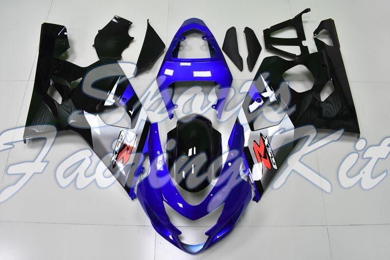 2004 2005 K4 Mavi Siyah Motosiklet Fairing GSXR 750 05 Motosiklet Fairing GSX-R750 - Suzuki GSXR600 2004 Fairing