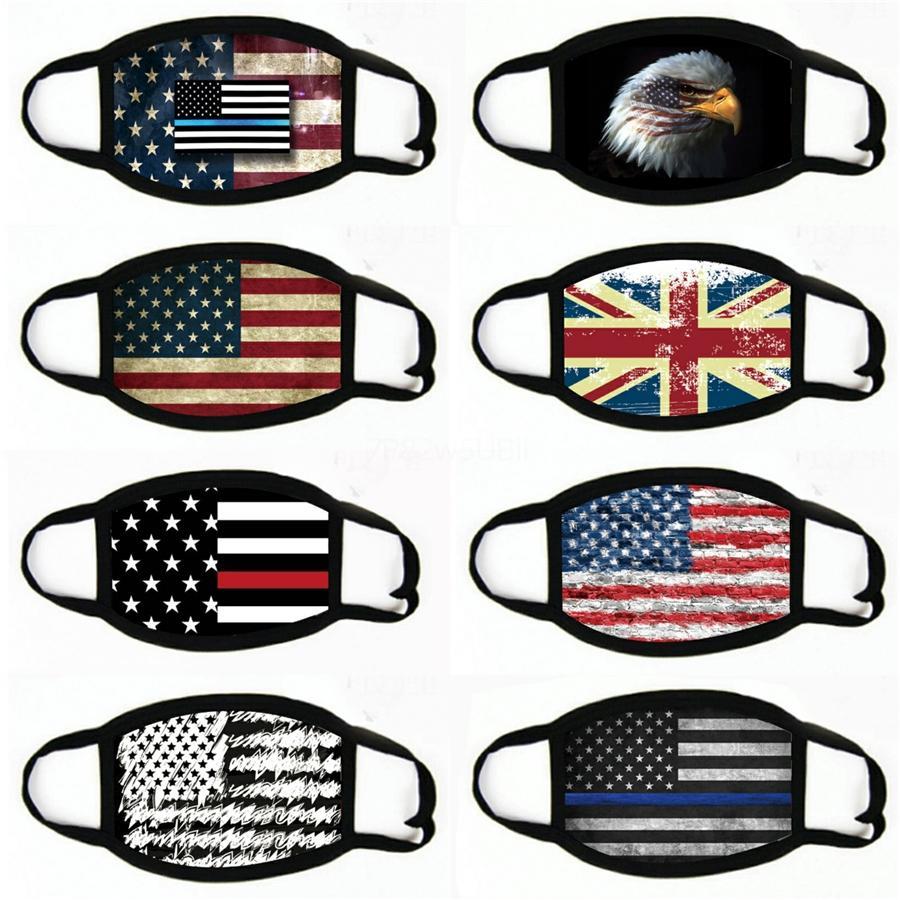 2020 Mask windundurchlässiges Cotton Mouth Masken Anti-Staub Unisex amerikanische Wahl US-Flagge Maske Mode schwarzer Maske # 251