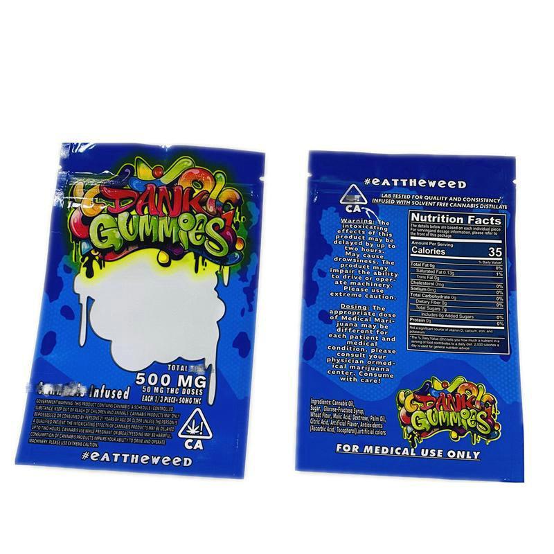 Bolsas Dank Gummies Caliente Cubos Envo Gominola Compre Embalaje de Bolsa De 500mg Un Mylar Edibles Edibles Osos Bolsas Venta vacas de SySYg