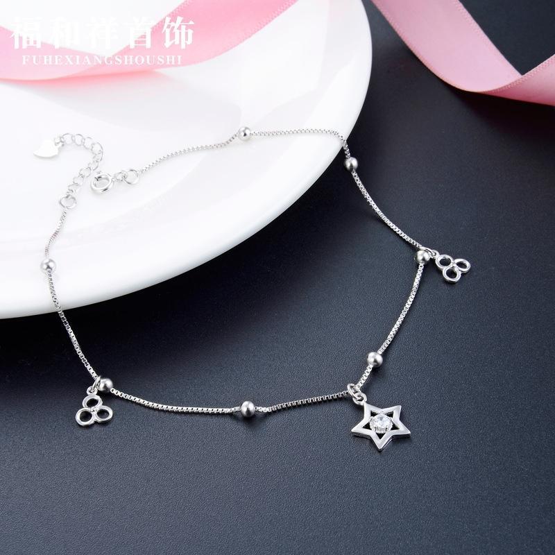 Yeni S925 gümüş zirkon halhal Kadınlar Plajı'nın halhal moda yaratıcı aksesuar aksesuar takı