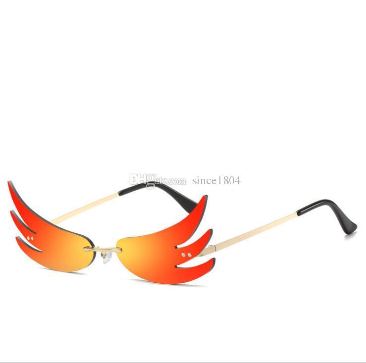 Nouvelle personnalité de la flamme Trend Bal Lunettes de soleil Lunettes de soleil Reflective Lunettes de soleil drôles sauvages AVTGU