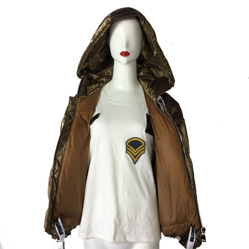 Золотая зима мода толщина белой утки пуховик для унисекс