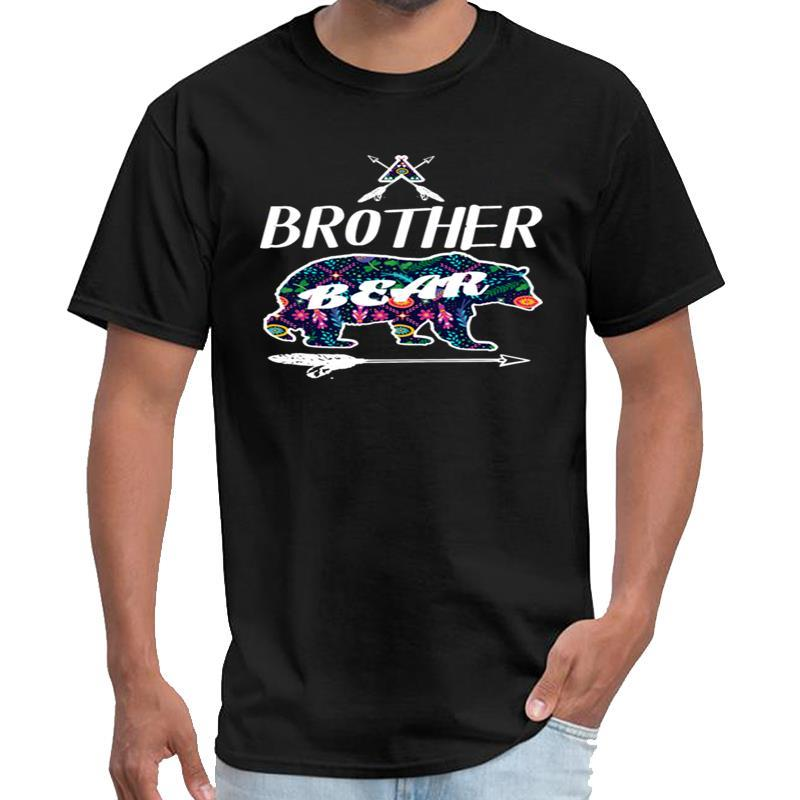 Printed Brother Bear Hemd Blumenmuster Family Camping die Striche T-Shirt Herren T-Shirt 3xl 4xl 5xl Outfit