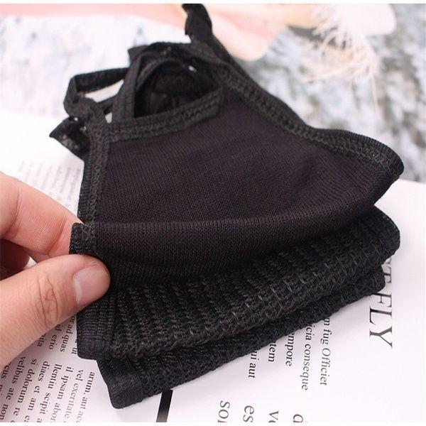 Moda nero Outdoor Moda anti-polvere di cotone viso unisex mascherina del respiratore bocca maschera del fronte mezzo Sciarpa