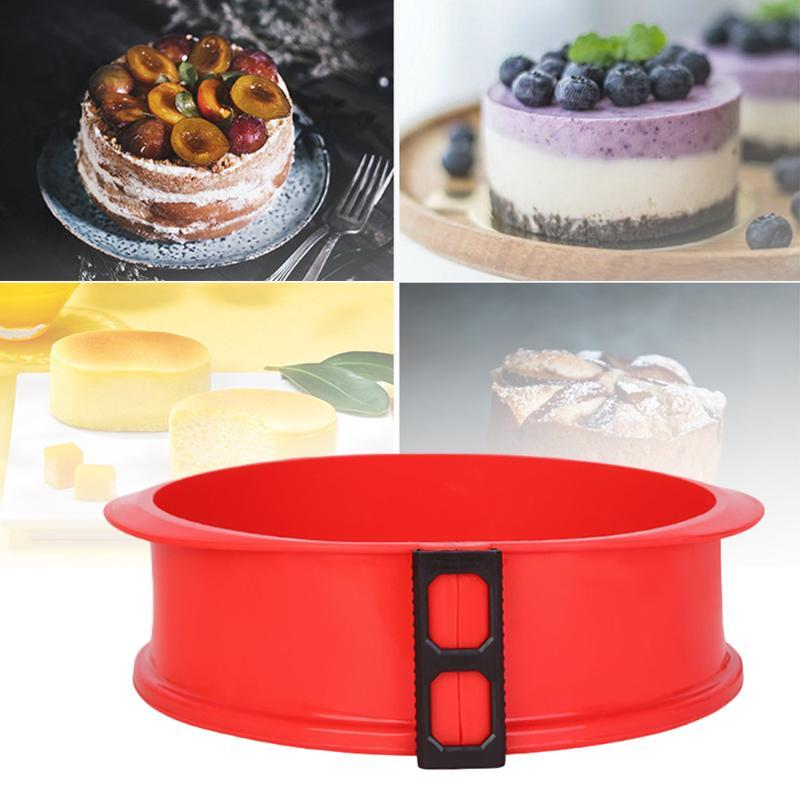 Silicone Springform Pan 3D Sugarcraft Fondant Cake Chocolate Muffin Mold Diy Baking Pastry Mould kitchen accessories baking tool