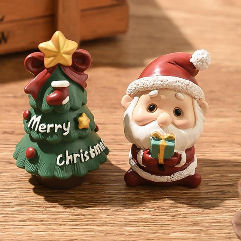Декоративные объекты статуэтки рождество Санта-Клаус мини фигурка кукла дом дом декор миниатюрный фея садовый орнамент детские игрушки ремесла
