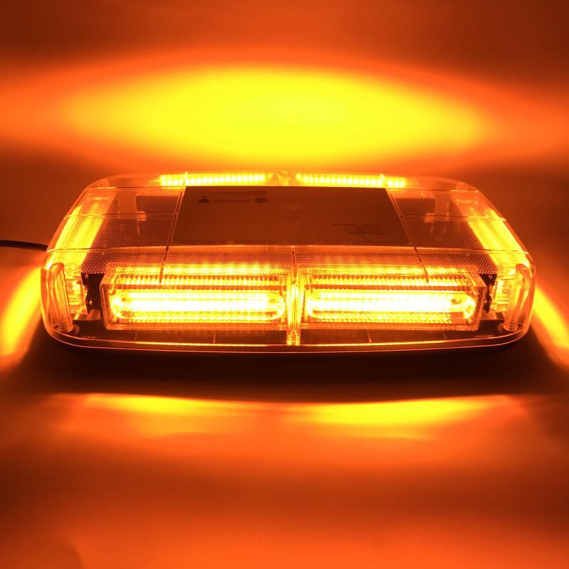 Yellow LED COB Car Strobe Warning Light Vehicle roof Flashing Beacon Strobe Emergency signal Lamp DC12~24V
