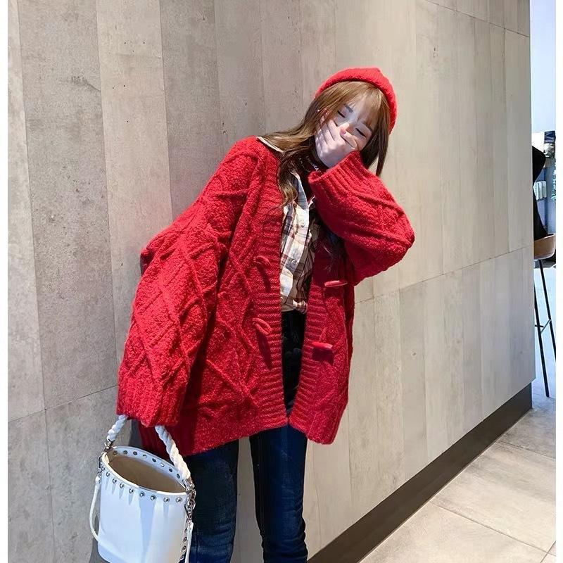 9HWCK maglione 2020 e inverno nuovo cappotto ispessito allentato autunno cappotto del cardigan delle donne in linea popolare stile coreano maglione stile pigro