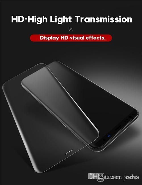 خفف من الزجاج الفيلم لسامسونج غالاكسي ملاحظة 8 9 S9 S8 منحني S10 5G زائد S7 A6 A8 زائد 9D كاملة شاشة حامي