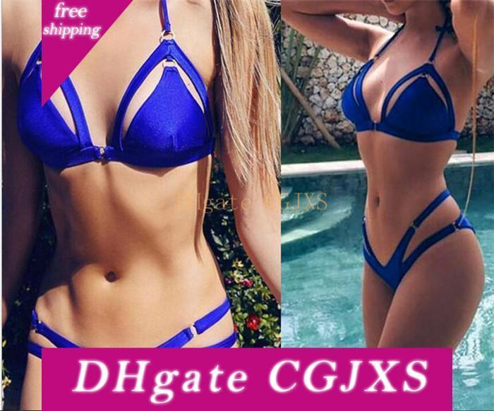 Été Femmes Sexy Bikini Bandage Brésilien Bikini Maillot solide plage Maillots de bain M424