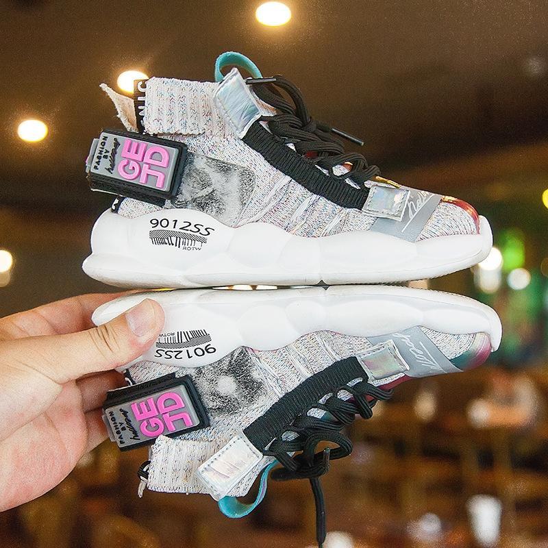 ObayV 2019 nuove ragazze sport tutto-fiammifero di medie e grandi ragazzi di fine dell'estate morbide scarpe da ginnastica inferiori pattini respirabili calzature per bambini casua bambini