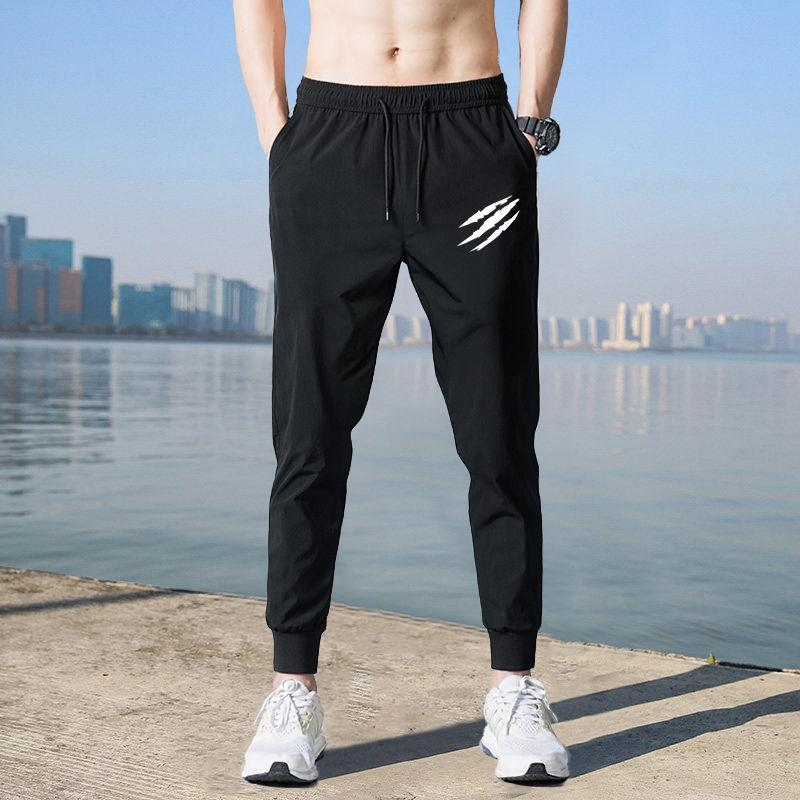 vkeGf Summer men's breathable trousers trouserstight pants pants casual long casual thin loose Sports plus size Harlan stretch leggings men's