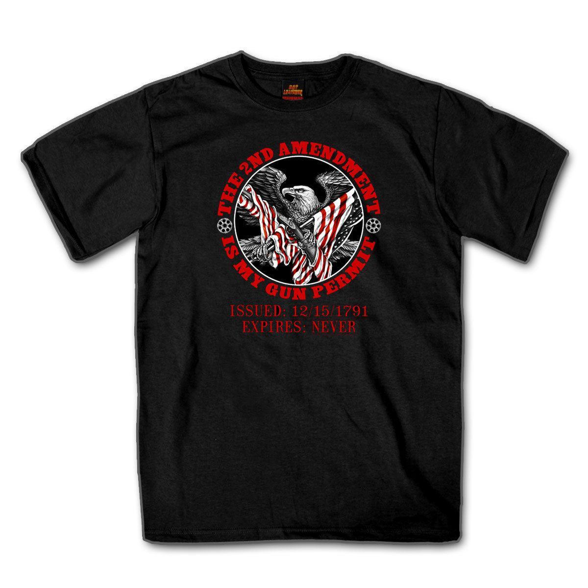 2019 neue Männer-amerikanische Flagge Adler 2. Änderung ist meine Gewehr-Erlaubnis-T-Shirt # B351-T-Shirt