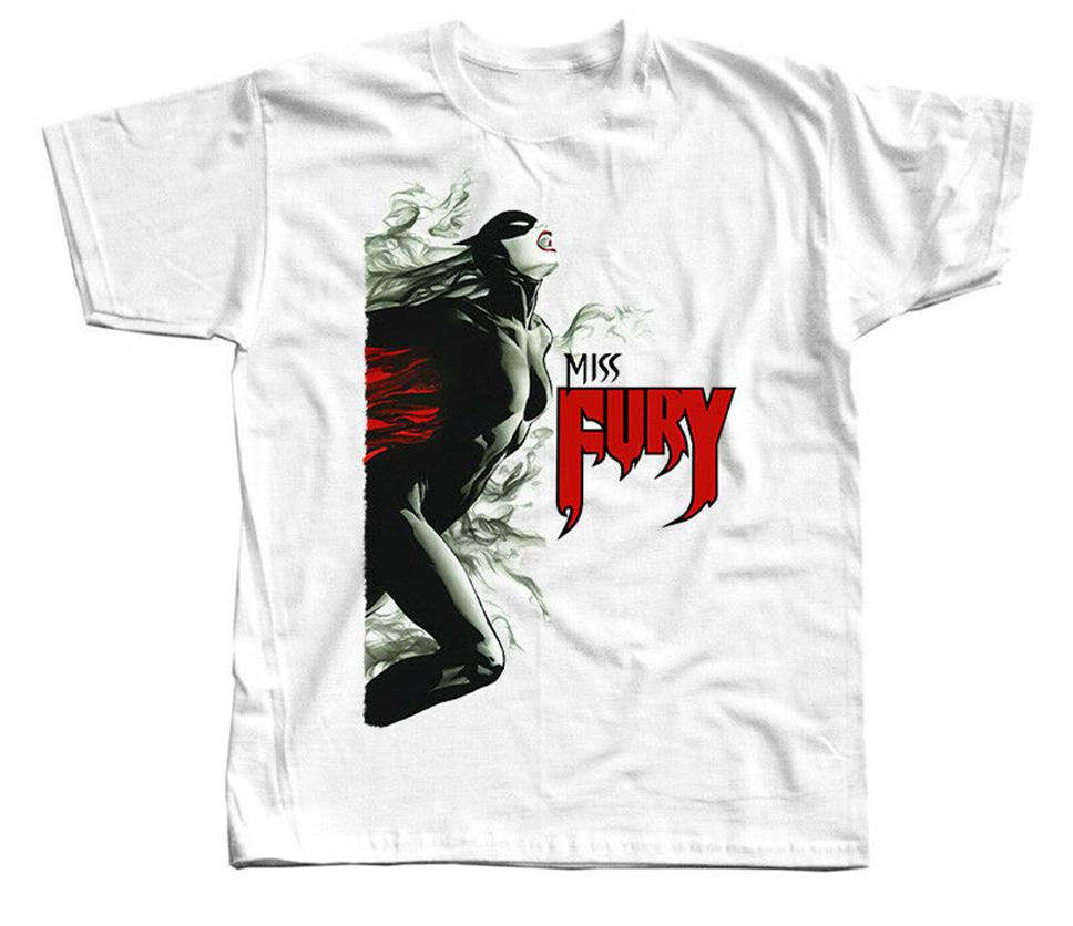 Character T Shirt signorina Fury V7 poster DTG Bianco Tutte le taglie S-3XL Personalizza Tee Shirt