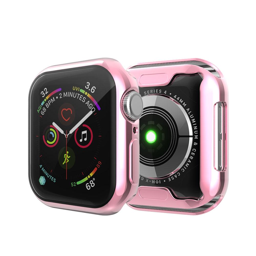360 Full Coverage Watch Cover for Apple Watch Series 1 2 3 4 5 TPU Transparent Case for Iwatch 38 40 42 44mm Clear Screen Protector Cases
