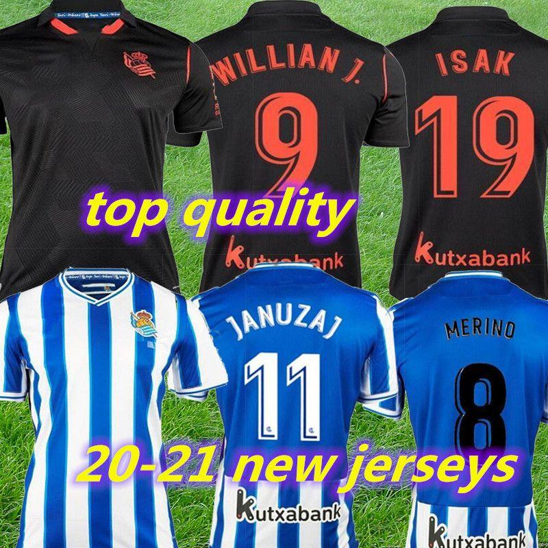2020 2021 Real Sociedad Futebol WILLIAN J. OYARZABAL Agirretxe Juanmi personalizado Casa Fora 20 21 Real Sociedade Adulto Crianças Football Shirt