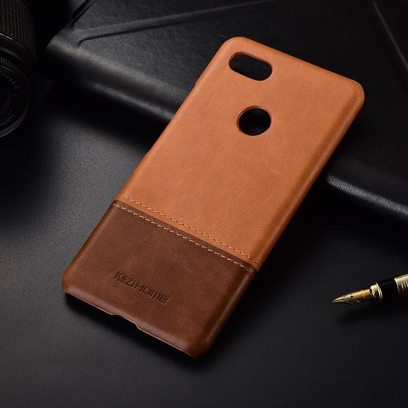 cgjxs luxe vintage en cuir véritable cas pour Google Pixel 3 Xl Couverture arrière 3a Xl Téléphone Housses Shell T190710