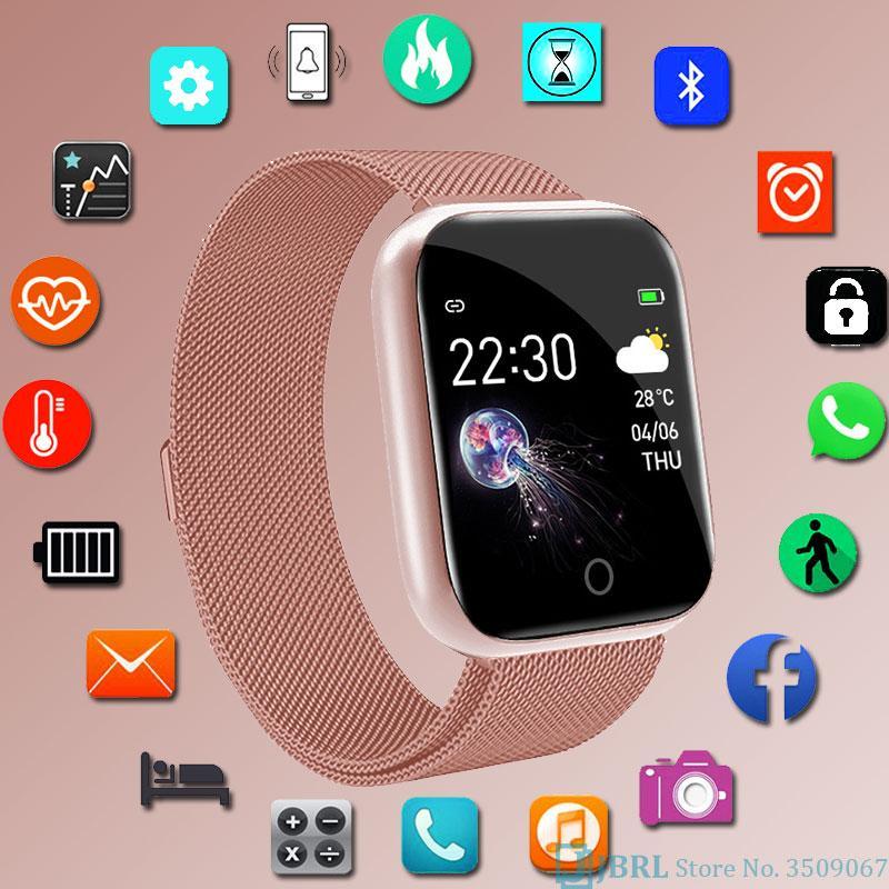 guardano dell'acciaio inossidabile di modo intelligente orologio delle donne degli uomini Elettronica dell'orologio di sport per Android IOS Piazza Smartwatch Smart Clock Ore mens