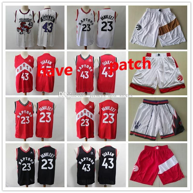 Men s TorontoRaptorsThrowback Trikots Pascal 43 Siakam Fred 23 VanVleet Basketball Jersey Basketball Shorts schwarz weiß 01