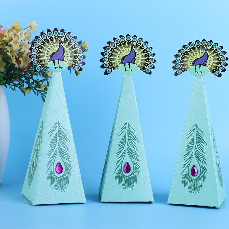 Sirenita cajas de regalo azul bandeja Postre caja del caramelo de cumpleaños del niño del partido bolsos del caramelo del partido de los accesorios del favor caja de papel CY BH1995
