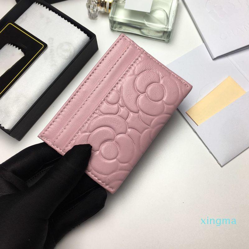 New-Ankunft Mini-Wallets 6 Farben Ultradünnes Kartenhalter Kleine echtes Leder-Geldbeutel-Leder-Karten-Kasten 6Slots Weibliche Karte bag0074A82286