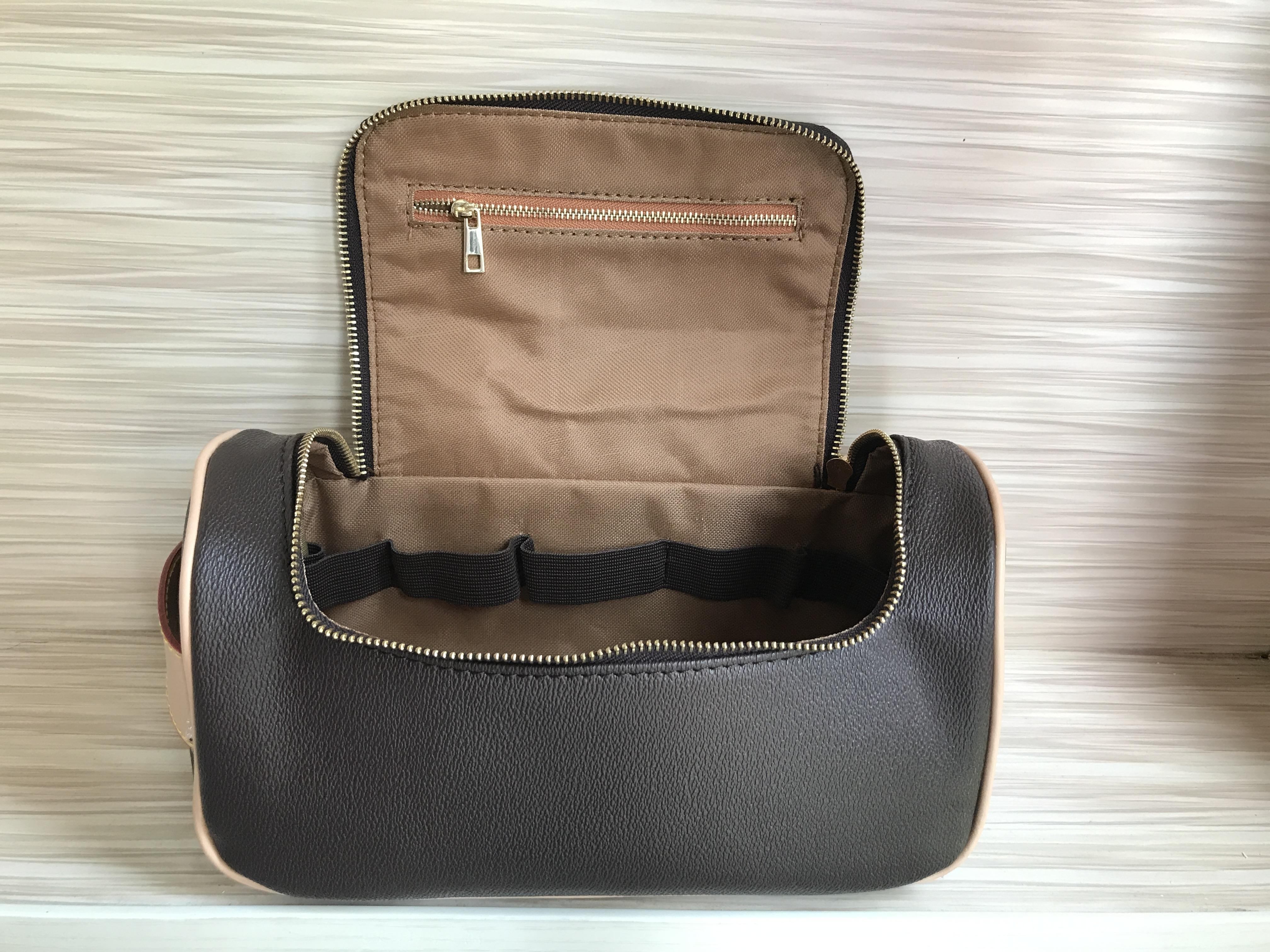 Designer Zipper Sacs cosmétiques cas sacs de maquillage de mode PU femmes cadeau en gros