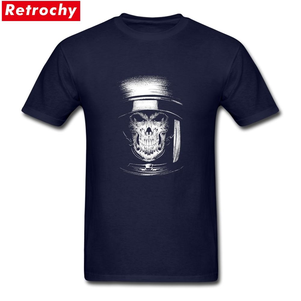 Regelmäßige Tote im Raum T Top Designer mit kurzen Ärmeln Plain Cotton Schwarz-Schädel-T-Shirt T-Shirt