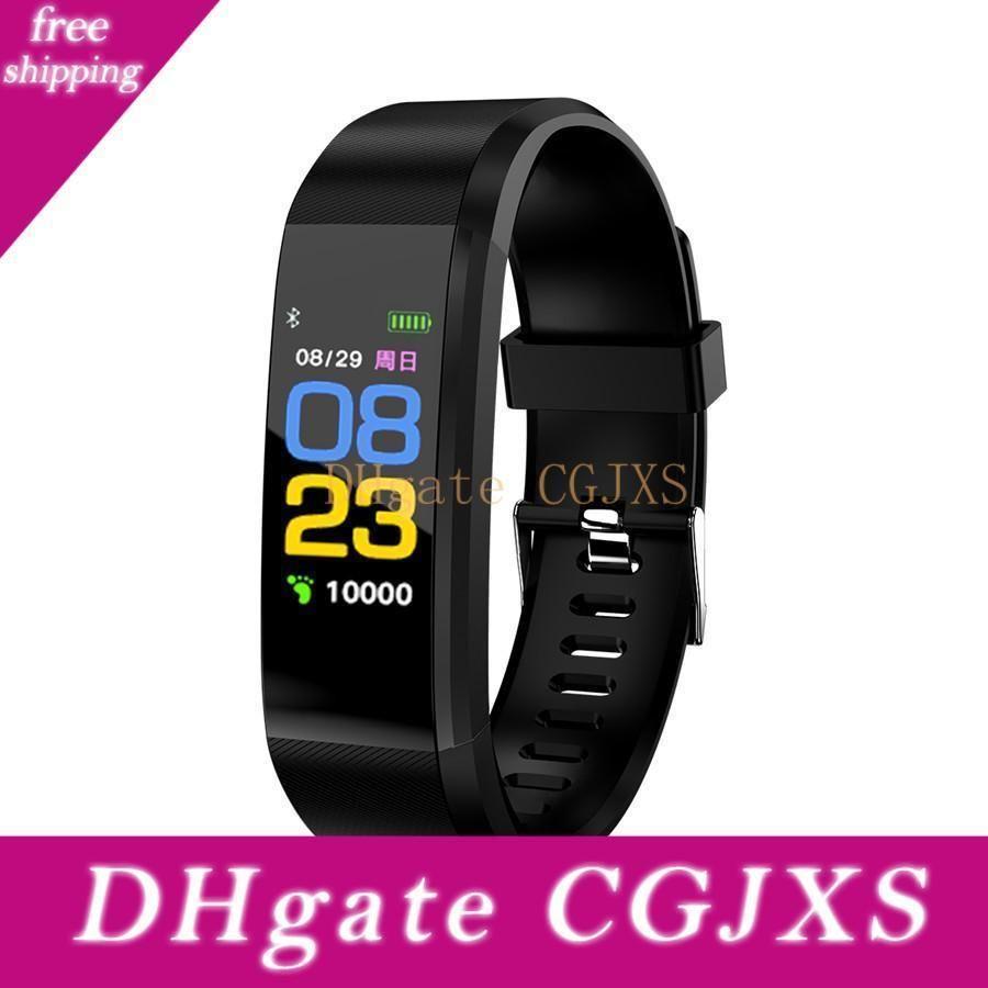 115 Inoltre intelligente Wristband per Iphone Android telefono mobile astuto 90mah Batteria Messaggio Touch Screen Promemoria braccialetti colorati