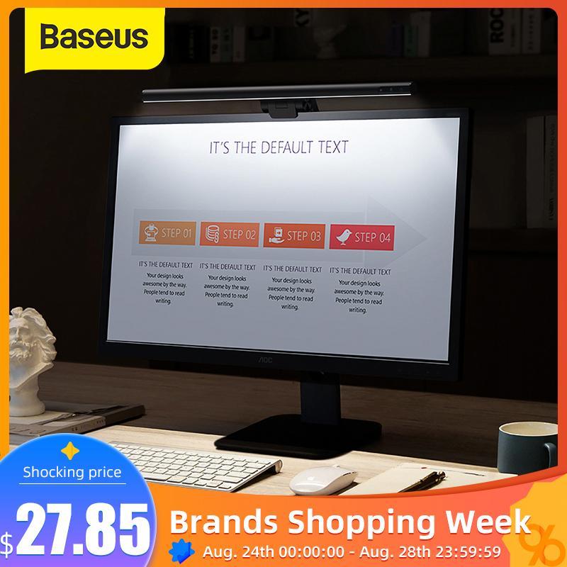 Baseus USB Light Computer Laptop Screen USB LED Lamp Eye Protection Reading Lamp LCD Monitor Hanging Light Table