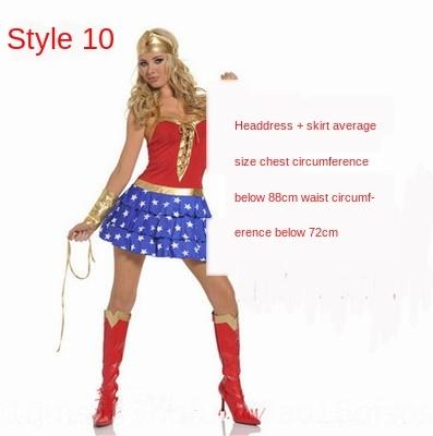 4SgtL Game uniform Superman Halloween clothing Woman Wonder role-playing party Game uniform Superman costume Wonder clothing Woman role Hallo