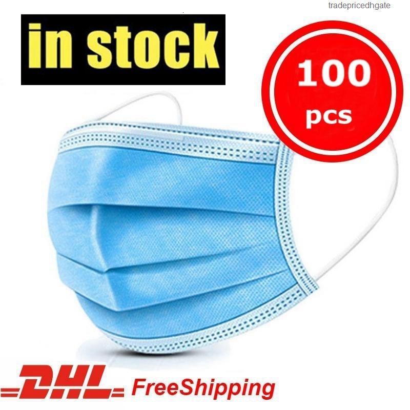 Mascherine Großhandelswegwerfgesichtsmaske Stock Mund in Masken Home Use Schutz Sicherheit Anti-Staub Atemgesichtsmaske Freies Verschiffen
