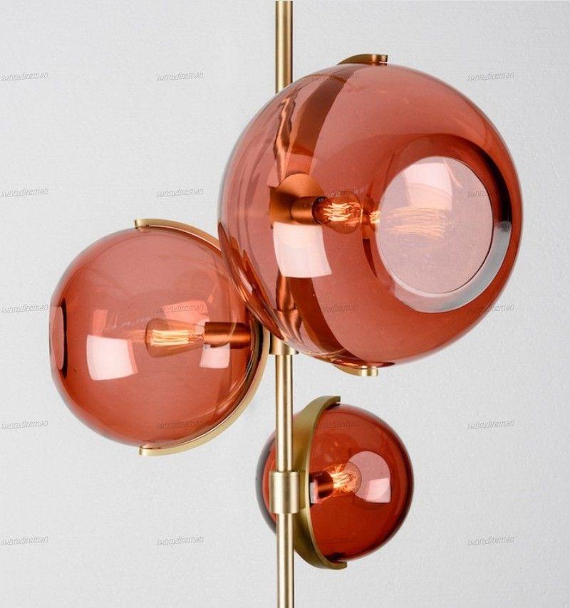 Modern LED Glass Pendant lights Art Creative Red Glass Pendant lamp Living room Dining Room kitchen hanging lamps Decor Fixtures
