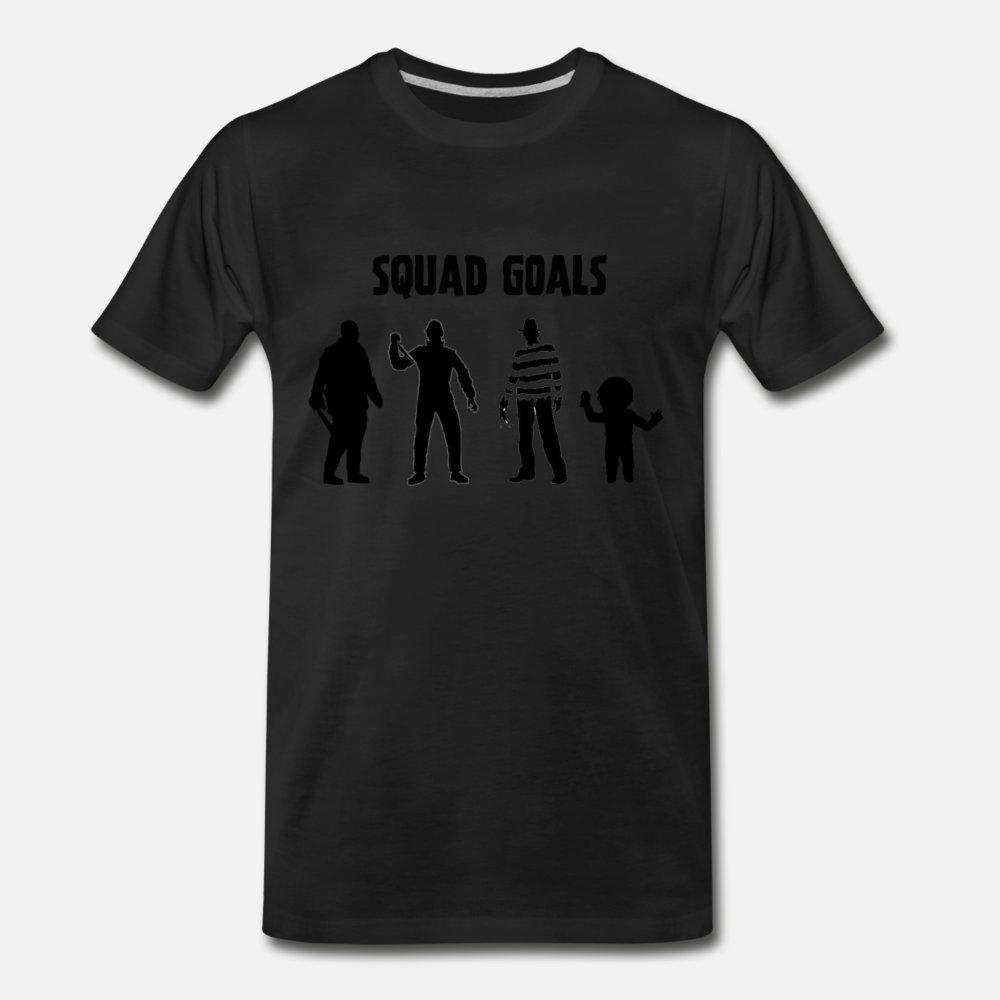 Horror Esquadrão Camiseta Homens T-shirt personalizado O-Neck Formal shirt fraco Humor Tendência Verão