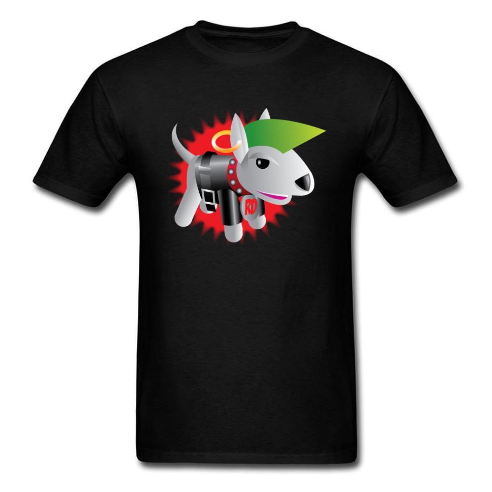 Arrefecer Homens Rebel Dog Steampunk Preto T-shirt engraçado 2020 dos desenhos animados Projeto Masculino cobre T Garotos gola roupa