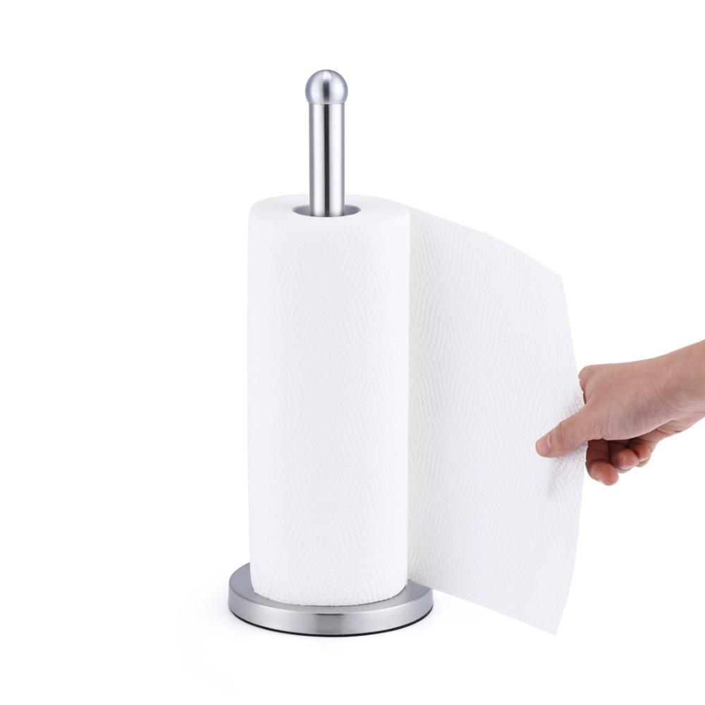 Anho cocina de acero inoxidable rollo de papel sostenedor de la toalla de baño de papel higiénico de papel Servilletas soporte del estante de Casa de los accesorios T200107