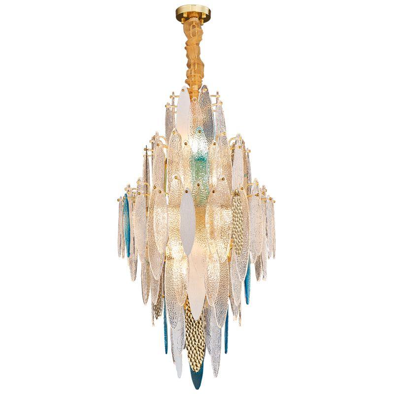 Art déco LED Postmodern Verre Fer Lustre Lustre Suspension Luminaire Lampen Pour Dinning Room 100-240