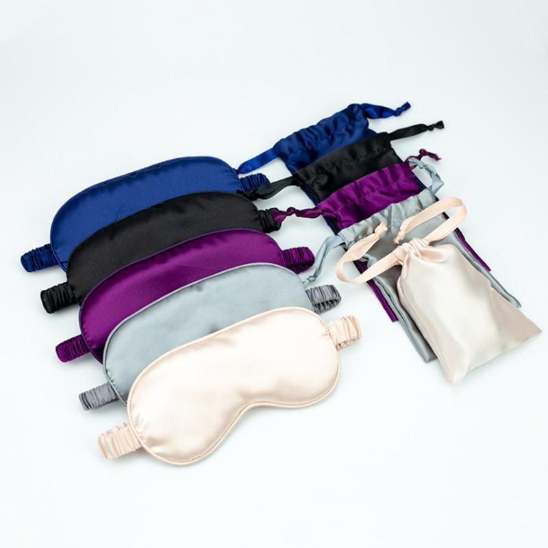 100% Pure Silk Double-Side Shading eyeshade dormir Eye Mask Tampa Eyepatch Vendas de Olhos Eyeshade Saúde sono Light Shield